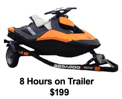 Off-Site Sea-Doo Spark on Trailer